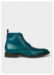 Men's Dip-Dyed Teal Calf Leather 'Jarman' Boots