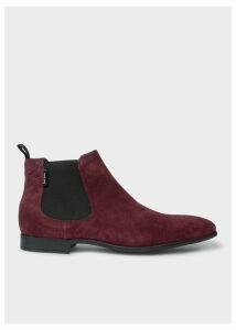 Men's Bordeaux Suede 'Falconer' Chelsea Boots