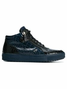 Baldinini croc effect sneakers - Blue