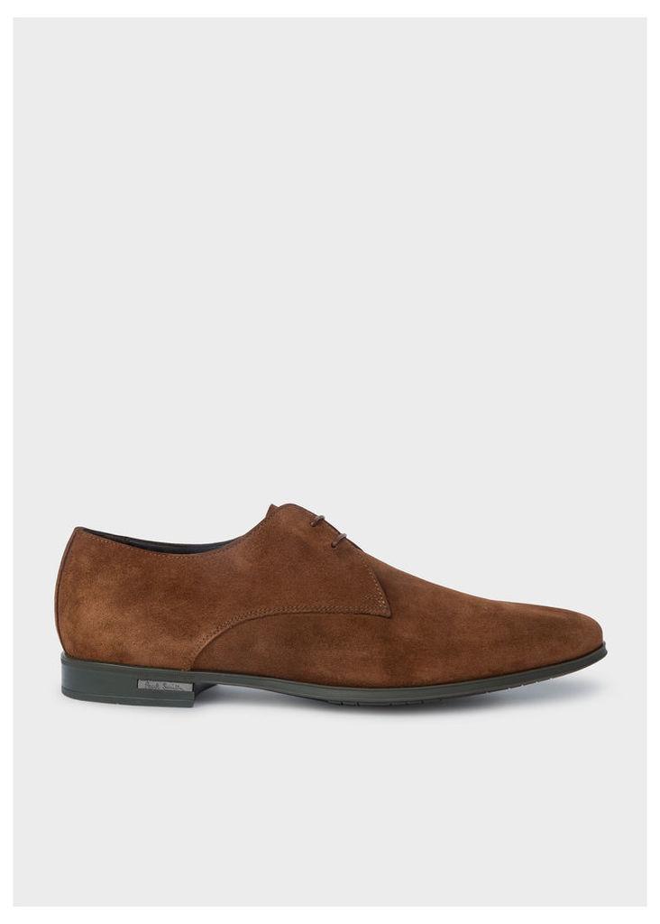 Men's Tan Suede 'Coney' Derby Shoes