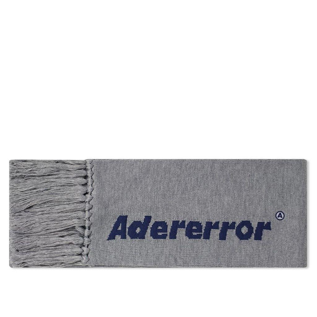 ADER error Fringe Text Logo Scarf Grey
