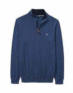 Classic Half Zip Sweatshirt in Blue Indigo Marl
