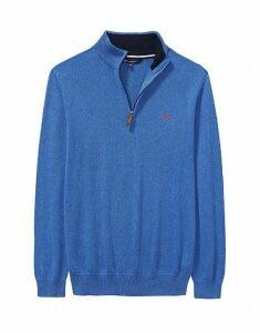 Classic Half Zip Sweatshirt in Lapis Blue Marl