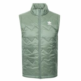 Adidas Superstar Puffy Gilet Green