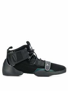 Giuseppe Zanotti split sole logo strap sneakers - Black
