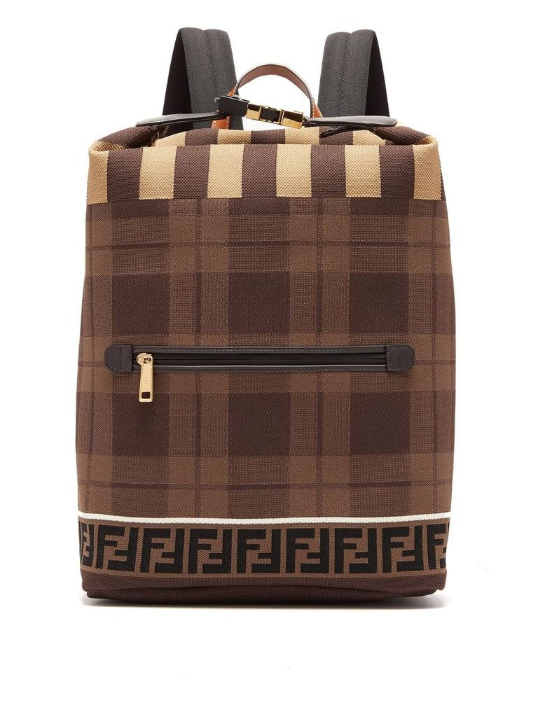 Fendi - Ff Technical Knit Backpack - Mens - Brown Multi