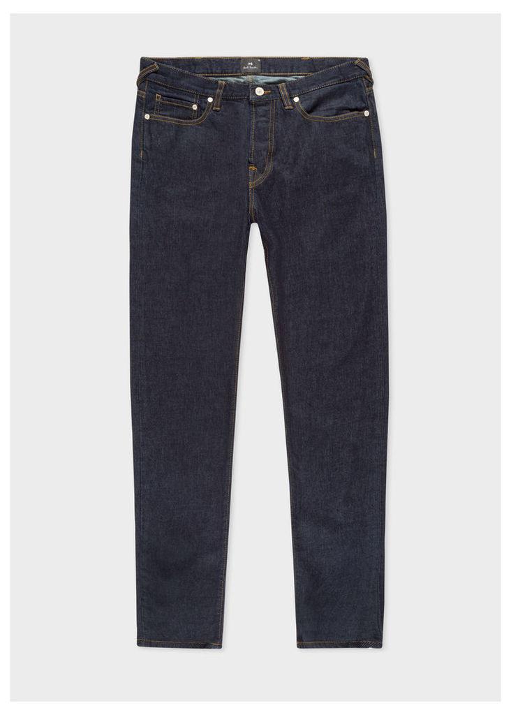 Men's Tapered-Fit 14oz 'Organic Pepper N Salt' Indigo Denim Jeans