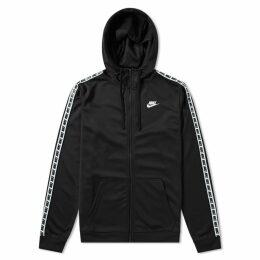 Nike Repeat Poly Zip Hoody Black & White