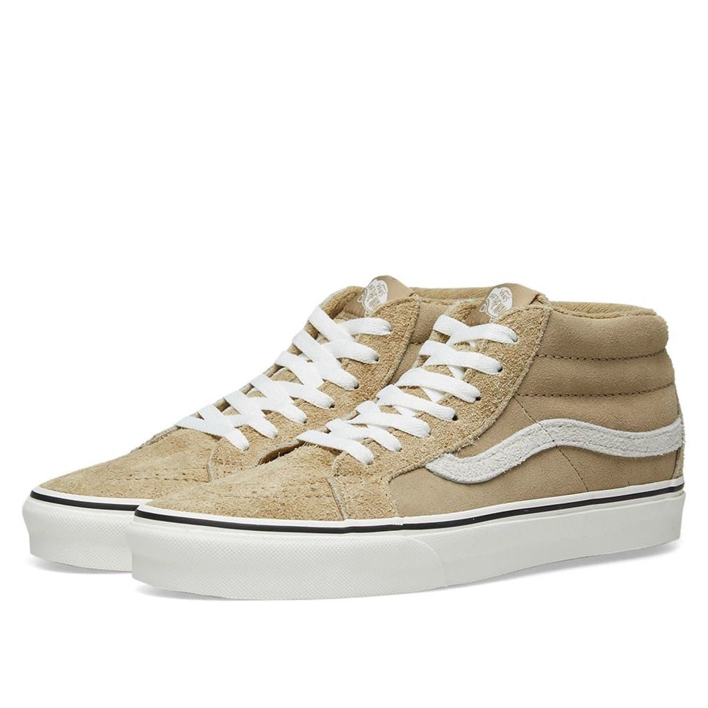 Vans SK8-Mid Reissue Hairy Suede Tan & Snow White