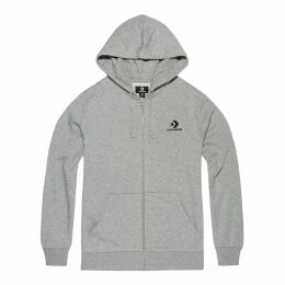 Men's Star Chevron Embroidered Full Zip Hoodie
