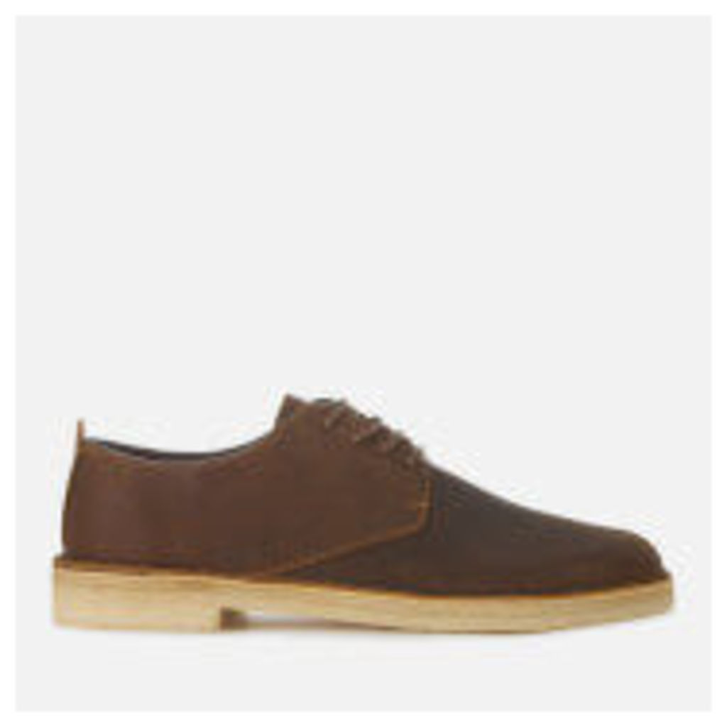 Clarks Originals Men's Desert London Leather Derby Shoes - Beeswax