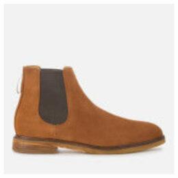 Clarks Men's Clarkdale Gobi Suede Chelsea Boots - Dark Tan - UK 11 - Tan/Brown