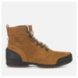 Sorel Men's Ankeny Mid Hiker Style Boots - Elk Black - UK 10 - Tan/Brown