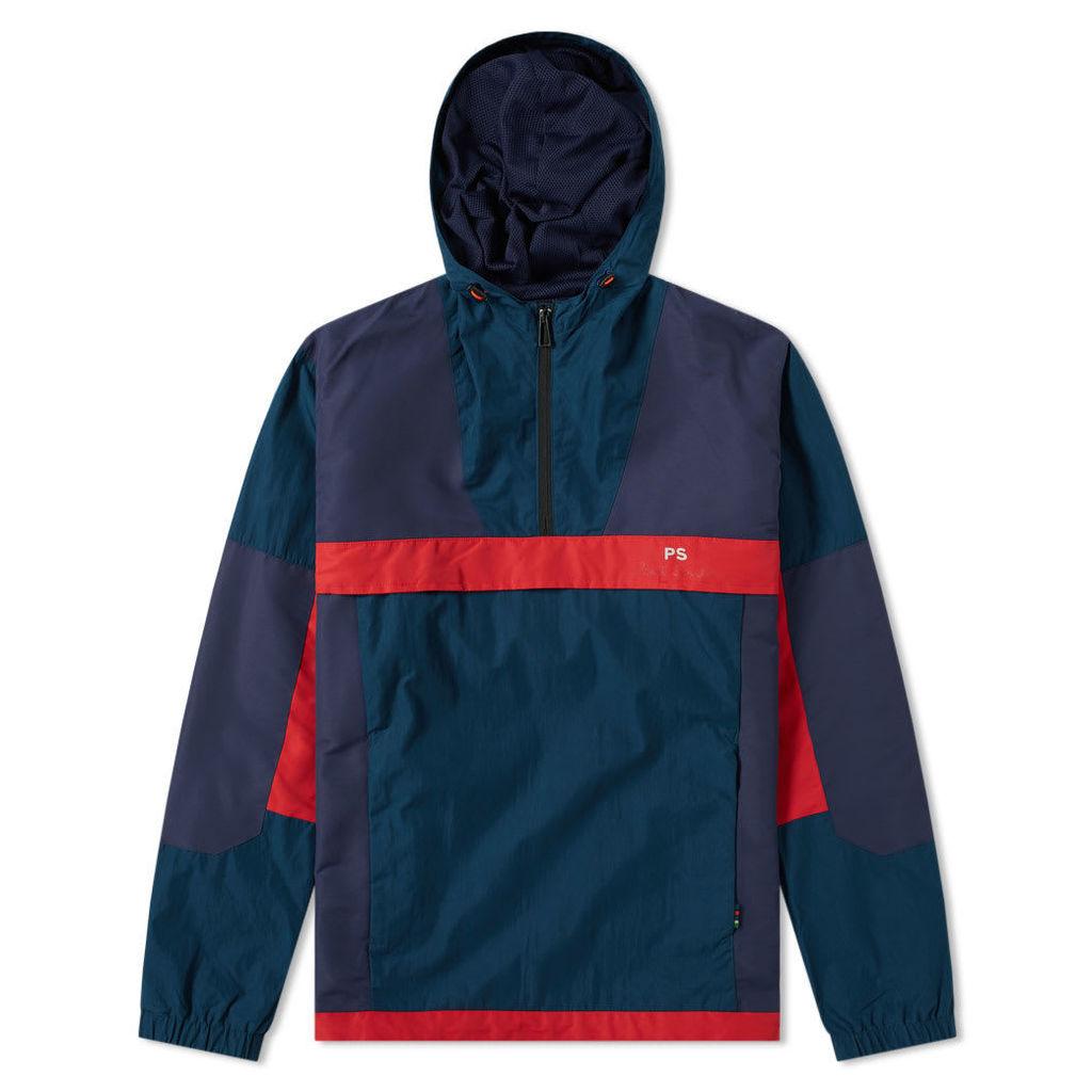 Paul Smith Retro Popover Jacket Petrol Blue