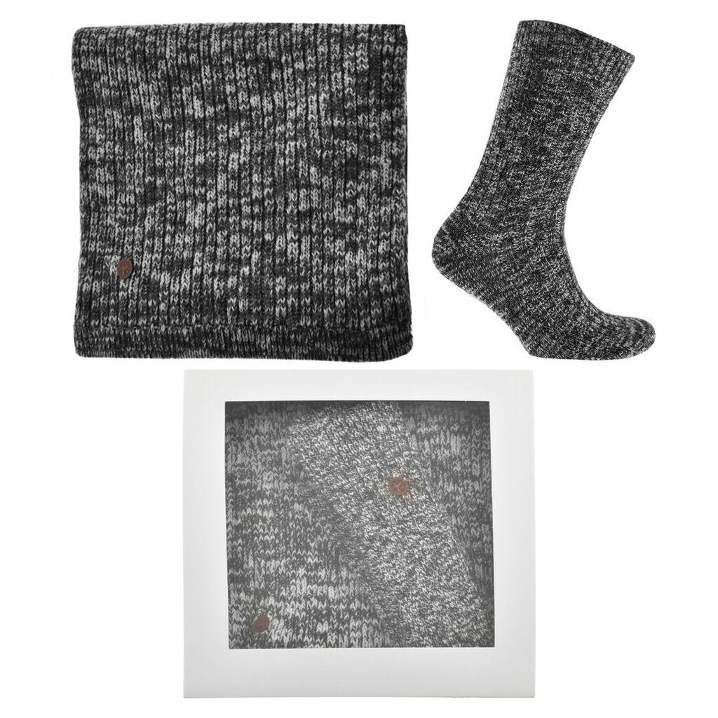 Birkenstock Scarf And Socks Gift Set Black