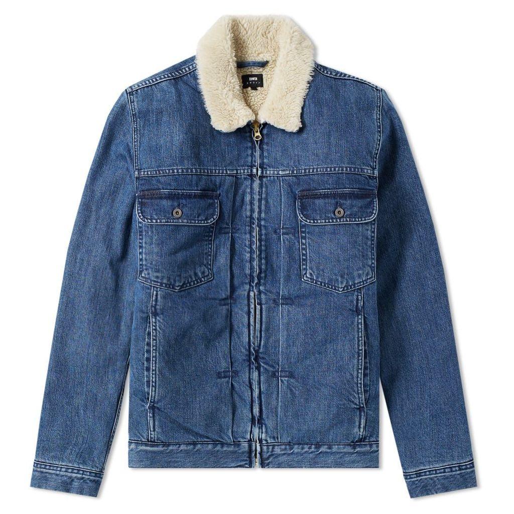 Edwin Panhead Zip Jacket Blue Mid Stone Wash