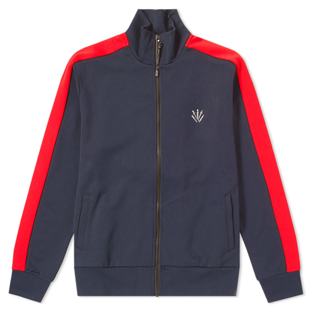 Rag & Bone Club Track Jacket Navy & Red