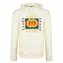 Gucci Fake Logo Hooded Sweatshirt