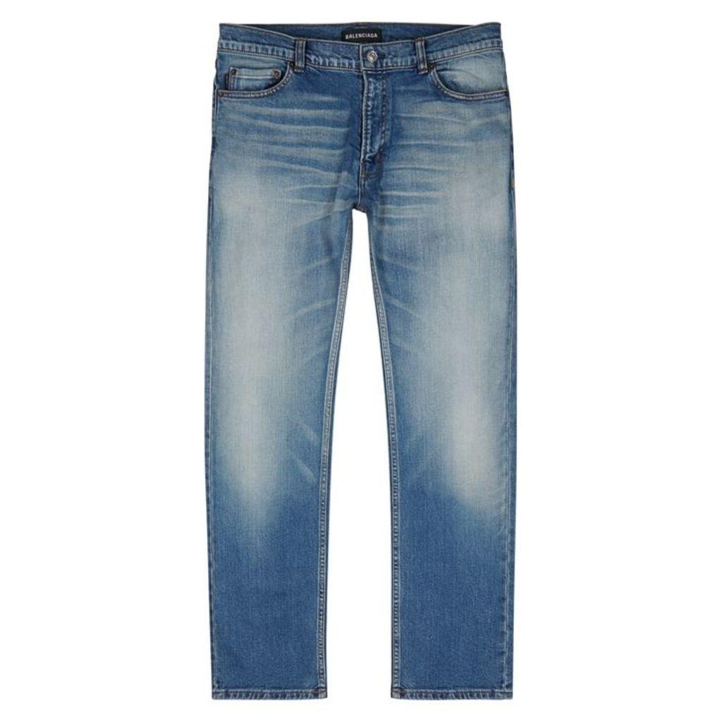 Balenciaga Blue Faded Skinny Jeans