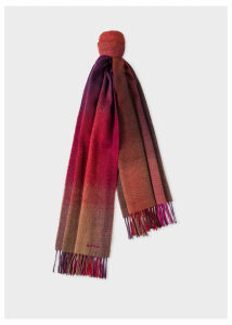 Men's Red Gradient Lambswool Scarf