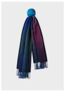 Men's Navy Gradient Lambswool Scarf