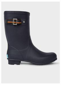 Men's Navy Rubber 'Krupa' Wellington Boots