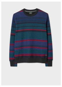 Men's Navy Stripe Cotton Sweatshirt