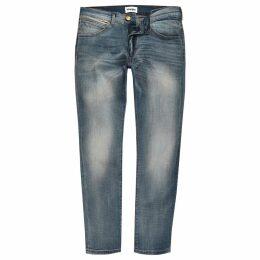 Mens River Island Wrangler light Blue Bryson skinny jeans