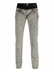Givenchy - Contrast Waistband Washed Denim Jeans - Mens - Grey