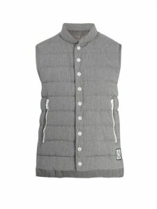 Moncler Gamme Bleu - Quilted Down Cotton Gilet - Mens - Grey