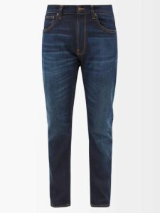 Balenciaga - Contrast Panel Denim Jacket - Mens - Blue