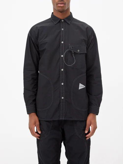 Incotex - Slim Leg Wool Trousers - Mens - Charcoal