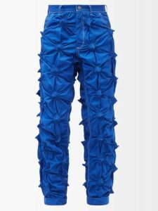 Éditions M.r - Francois Striped Linen Trousers - Mens - Beige Multi