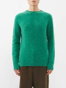 Balenciaga - Logo Intarsia Knit Sweater - Mens - Grey