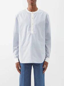 Balenciaga - Intarsia Logo Half Zip Sweater - Mens - Black White