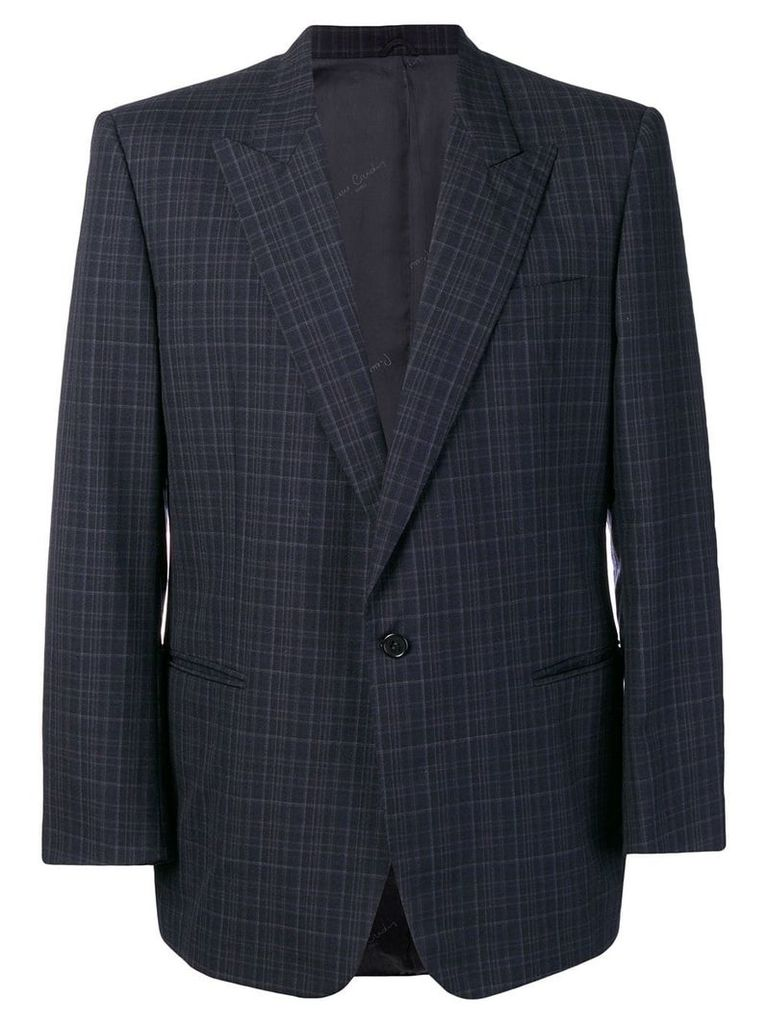 Pierre Cardin Vintage 1990's checked blazer - Blue