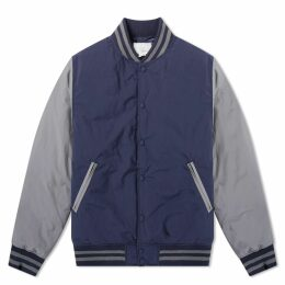 Nanamica Down Varsity Jacket Navy & Grey