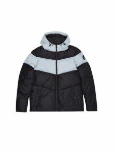 Mens Hiit Black Cut And Sew Puffer Jacket, Black