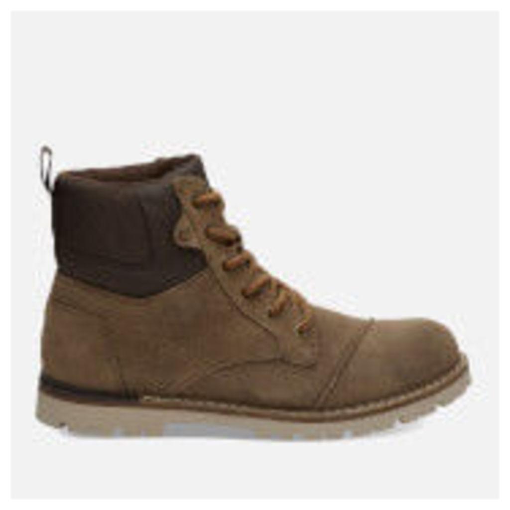 TOMS Men's Ashland Waterproof Suede Hiker Boots - Twig