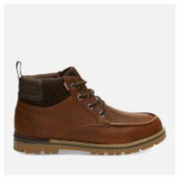 TOMS Men's Hawthorne Waterproof Leather Boots - Peanut Brown - UK 11 - Brown