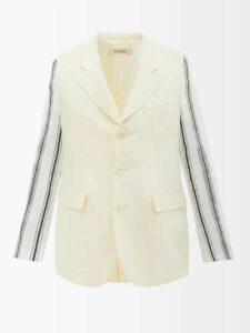 Balenciaga - Logo Print Cotton Jersey Track Pants - Mens - Navy