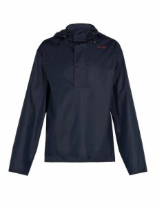 Wales Bonner - Hooded Windbreaker Jacket - Mens - Navy