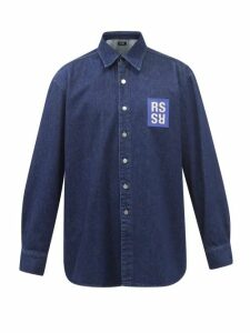 Moncler - Hooded Zip Through Cotton Sweatshirt - Mens - Grey