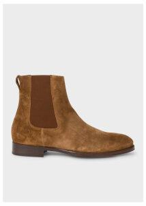 Men's Brown Suede 'Joyce' Chelsea Boots