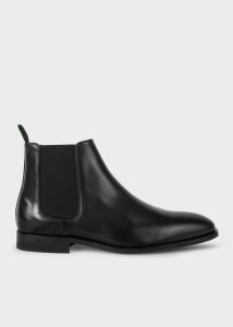 Men's Black Smooth Calf Leather 'Gerald' Chelsea Boots
