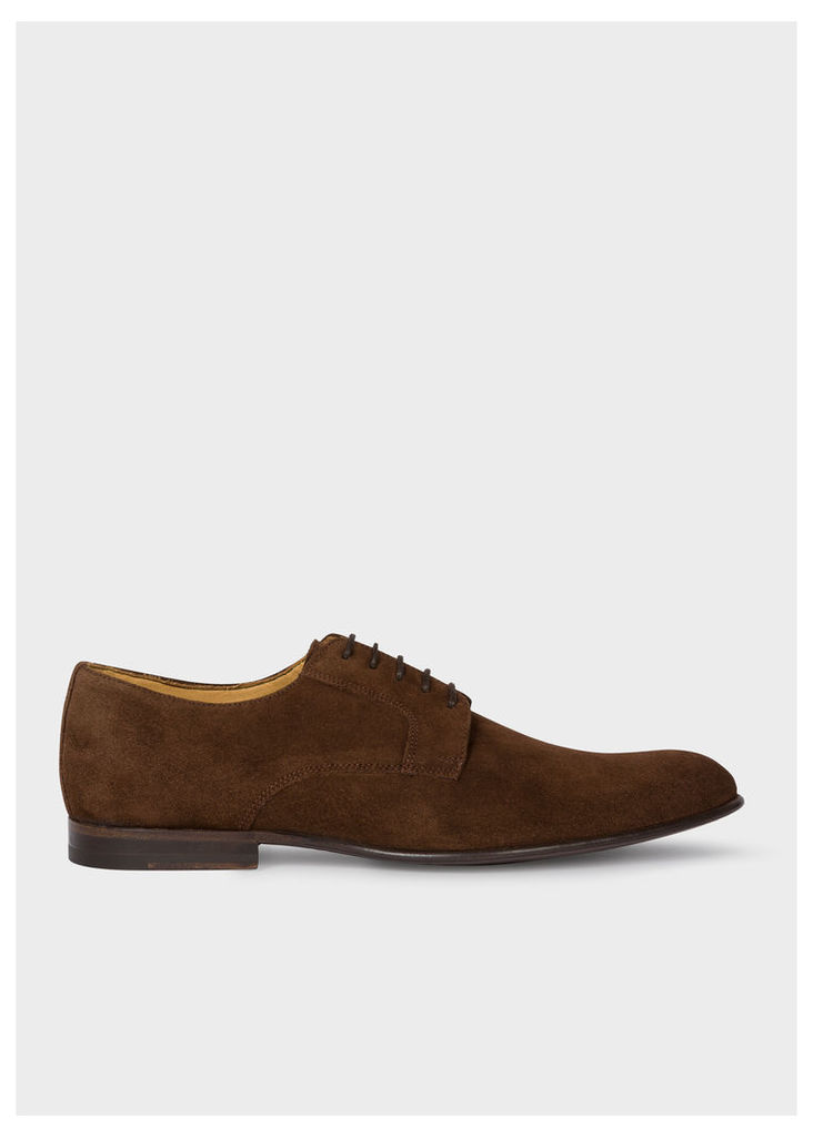 Men's Chocolate Brown Suede Leather 'Gould' Derby Shoes