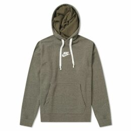 Nike Heritage Pullover Hoody Olive Heather & Sail