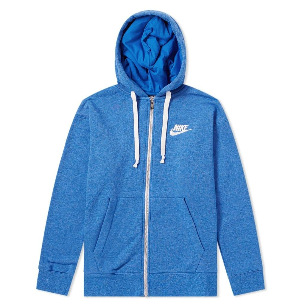 Nike Heritage Zip Hoody Signal Blue, Heather & Sail