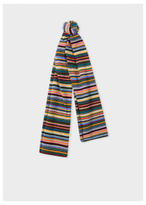 Men's Signature Stripe Wool And Cashmere-Blend Scarf