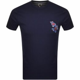 Champion Crew Neck Logo T Shirt Red